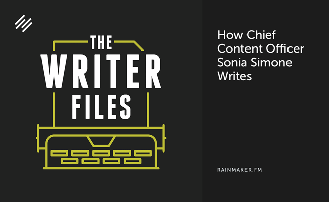 How Chief Content Officer Sonia Simone Writes