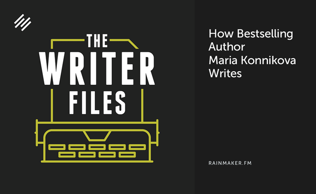 How Bestselling Author Maria Konnikova Writes